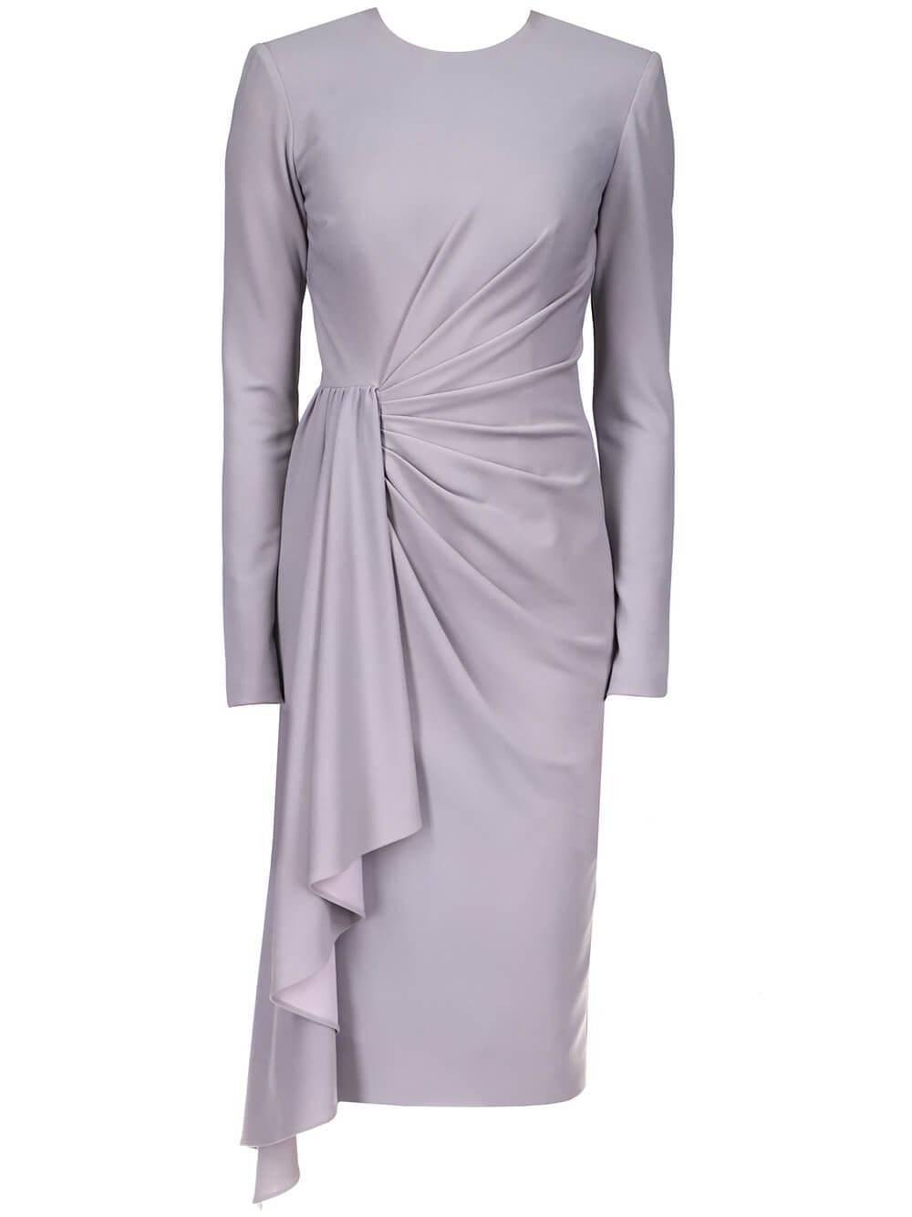 Draped Sash Front Dress Item # BSD4561