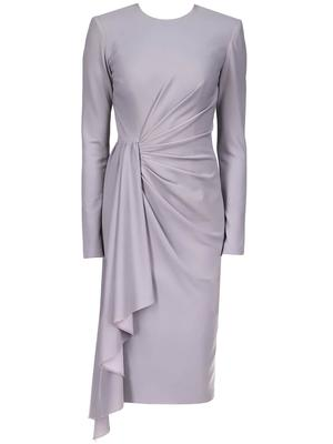 Draped Sash Front Dress