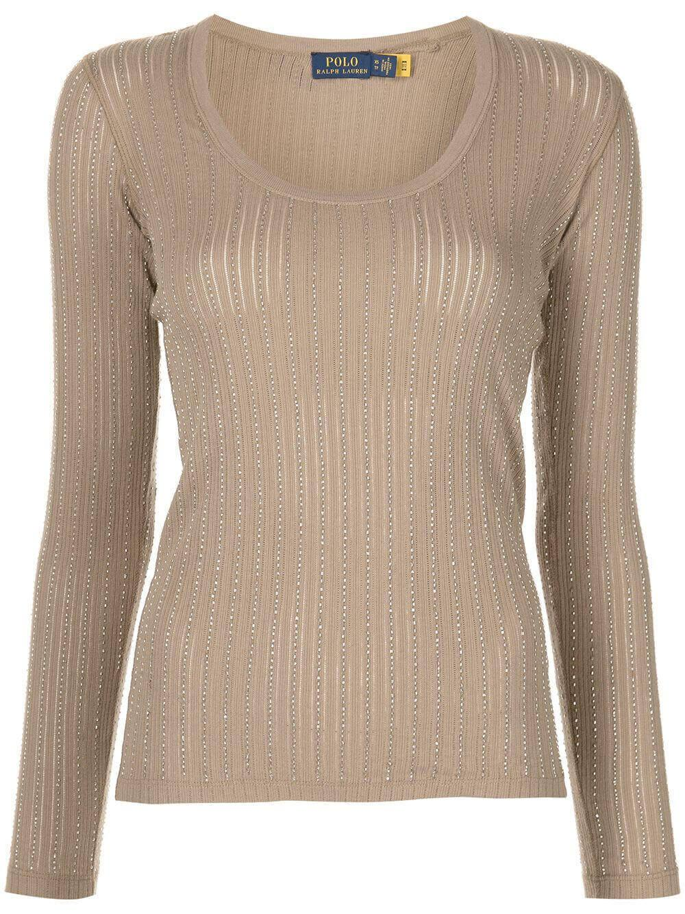 Scoop Neck Metallic Knit Top Item # 211839198001