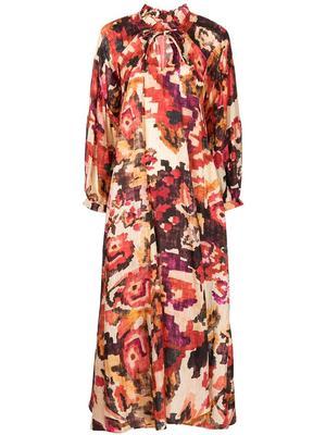 Dela Printed Maxi Dress