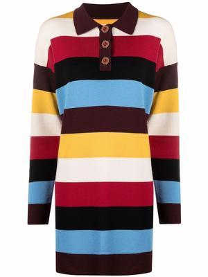 Multi Stripe Polo Dress