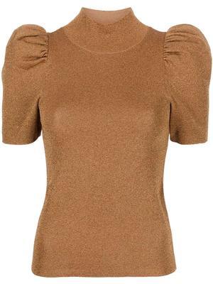 Issa Turtleneck Puff Sleeve Pullover