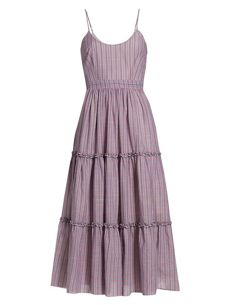 Belle Plaid Midi Dress Item # ZD14164420Z