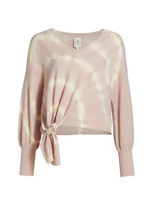 Cecily Tie Dye Tie Waist Sweater