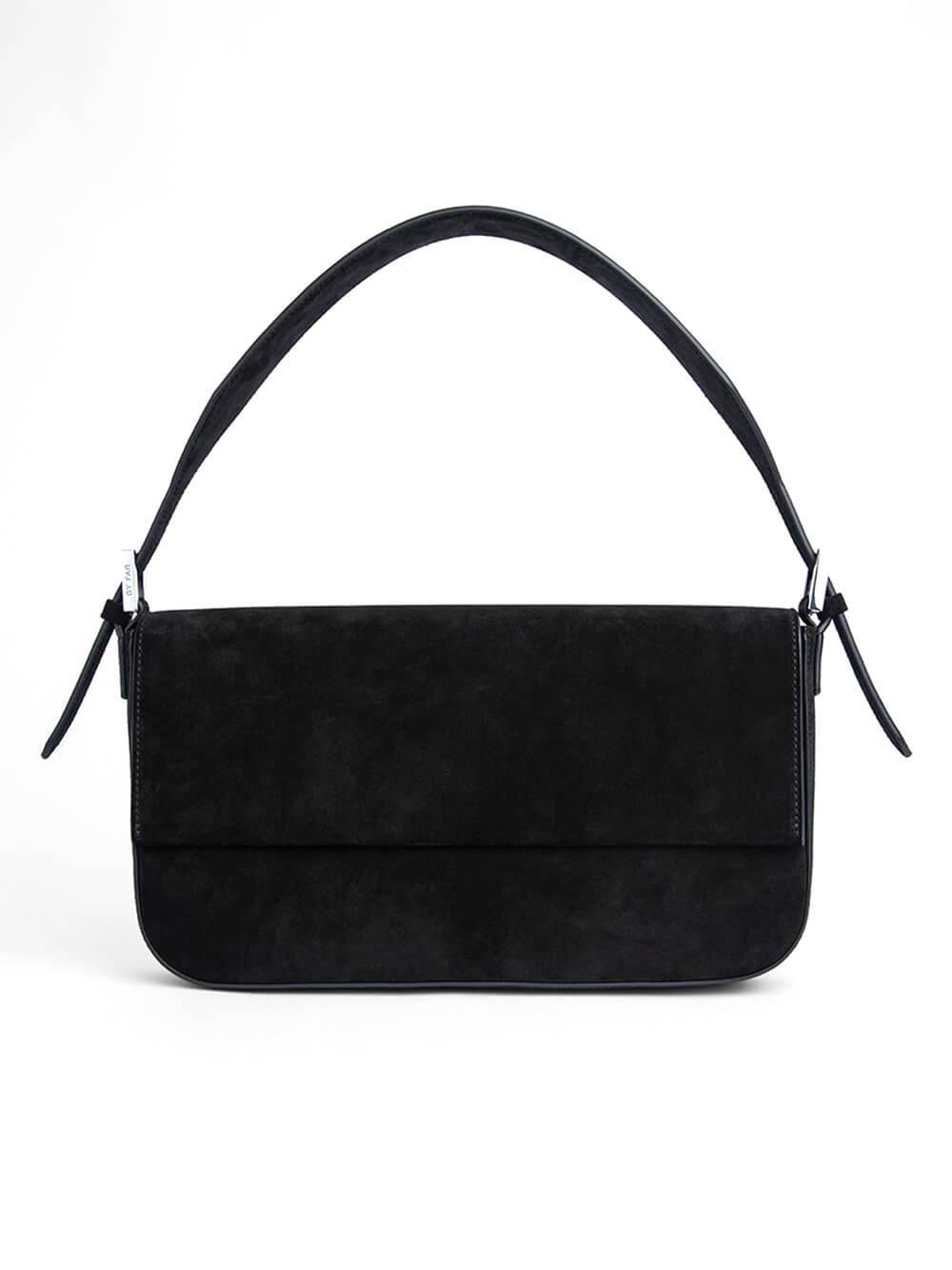 Manu Suede Shoulder Bag Item # 21PFMNS