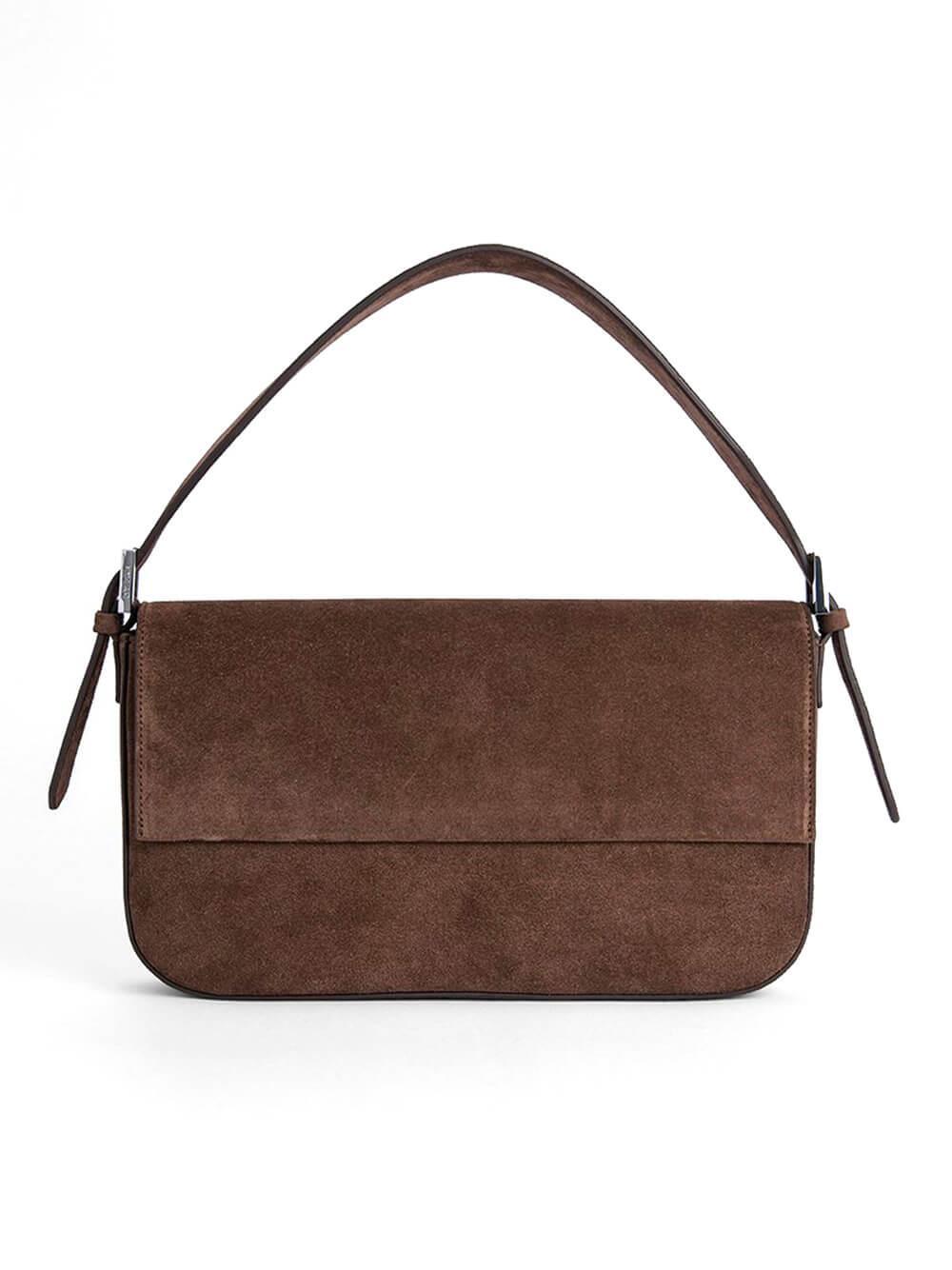 Manu Suede Shoulder Bag