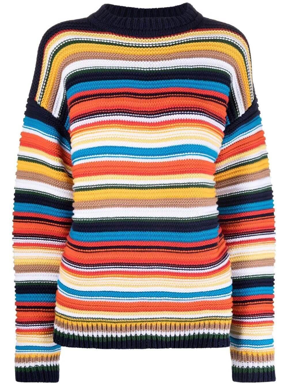 Multi Striped Sweater Item # 2321KJU002801A