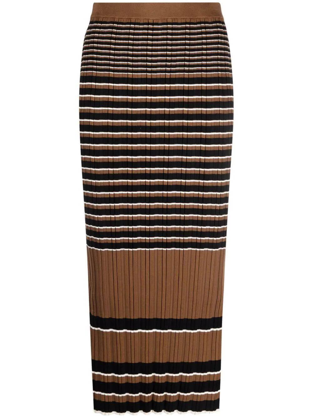 Rib Knit Striped Skirt Item # L0514704