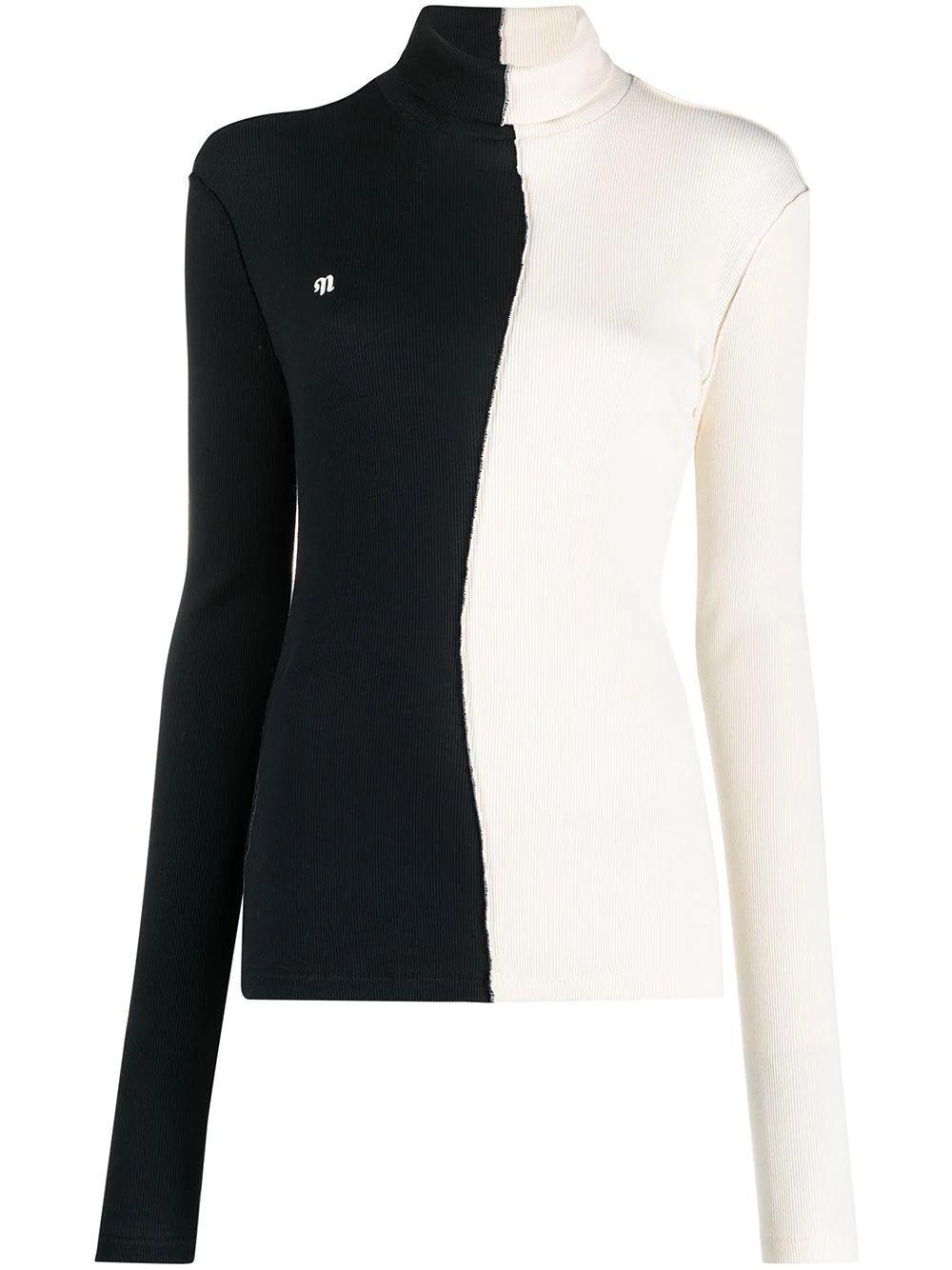 Villa Patchwork Turtleneck Sweater Item # NW21PFTP01899