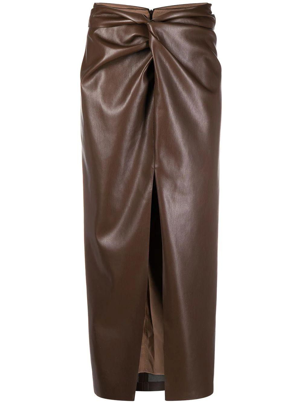 Inci Vegan Leather Skirt
