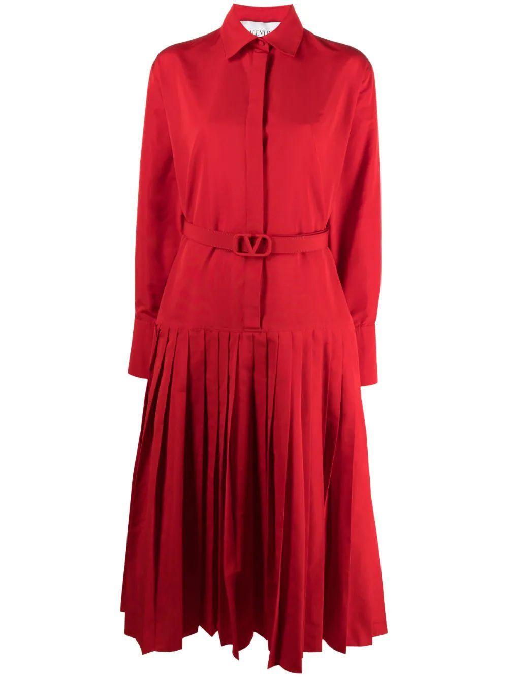 Pleated Shirt Dress Item # WB3VAW154H2