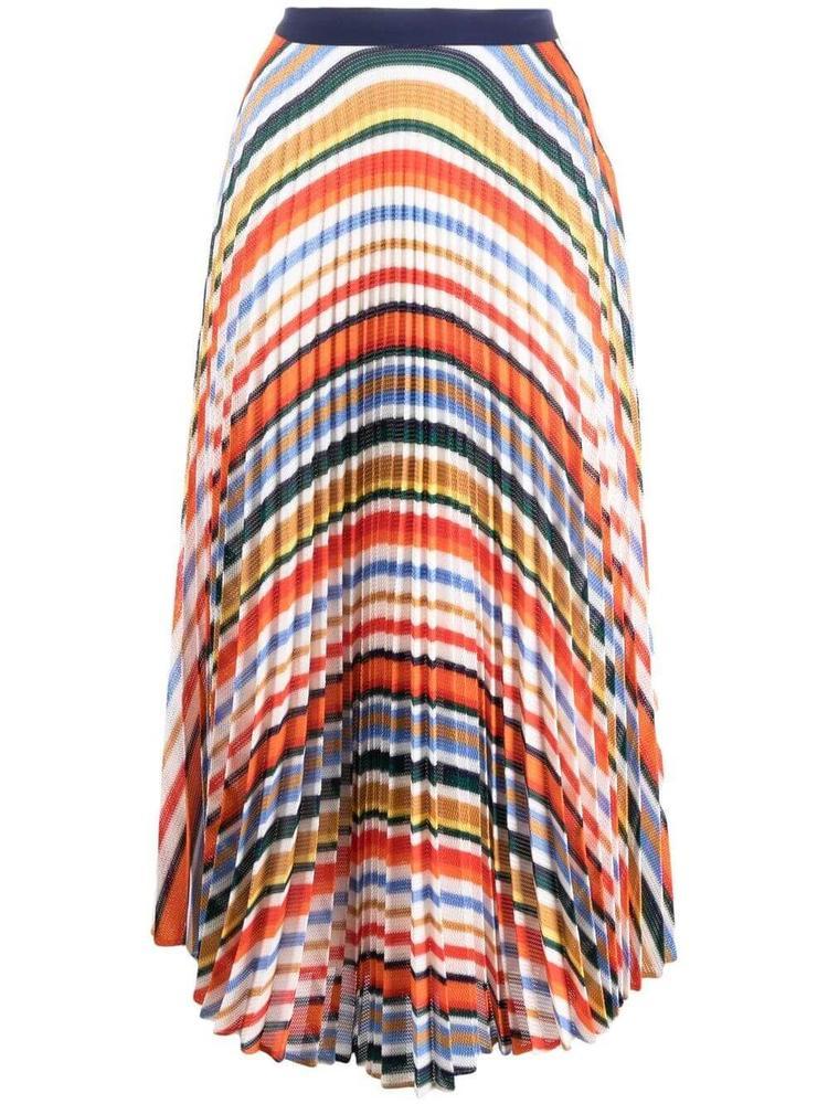 Pleated Stripe Skirt Item # 2321JSK002840A