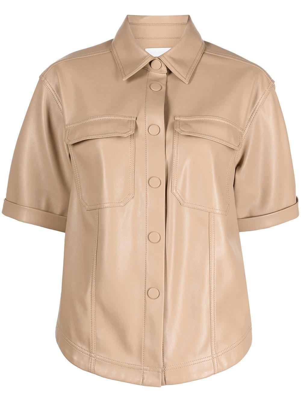 Joselin Vegan Leather Shirt Item # 421-2146-V