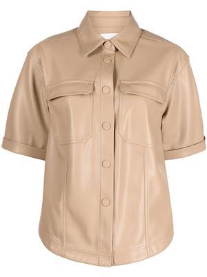 Joselin Vegan Leather Shirt