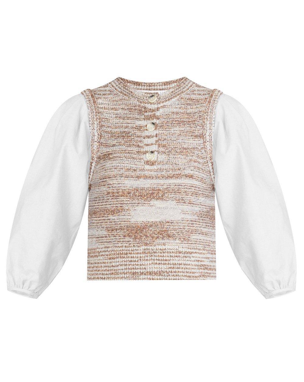 Tahlea Mixed Media Sweater Item # 2107KN5419602