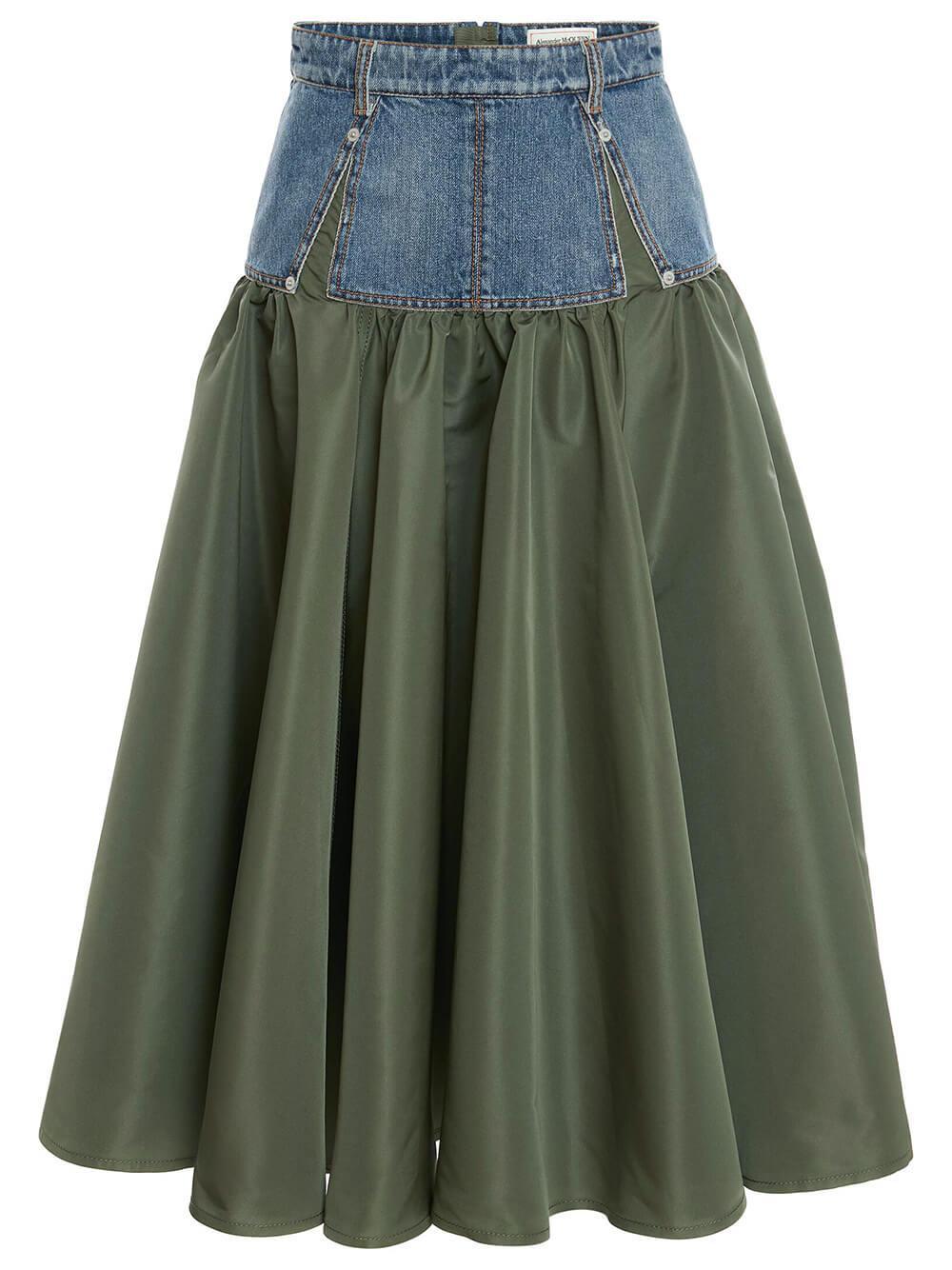 Denim Hybrid Skirt