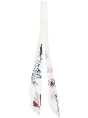 Floral Skinny Scarf