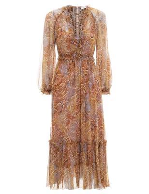 Concert Lace Up Midi Dress
