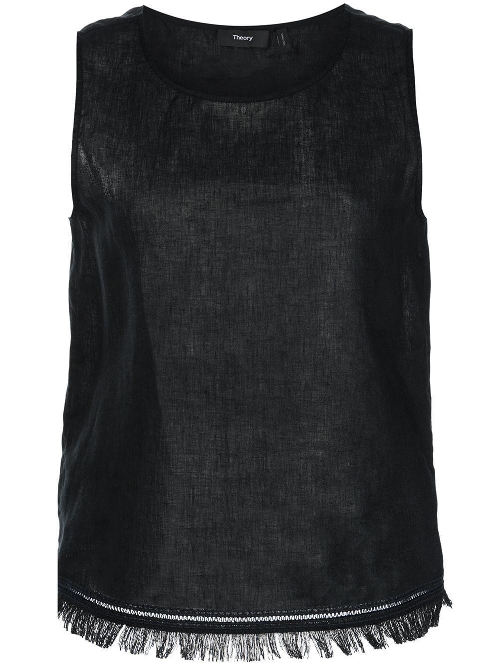 Sleeveless Linen Top Item # L0503517