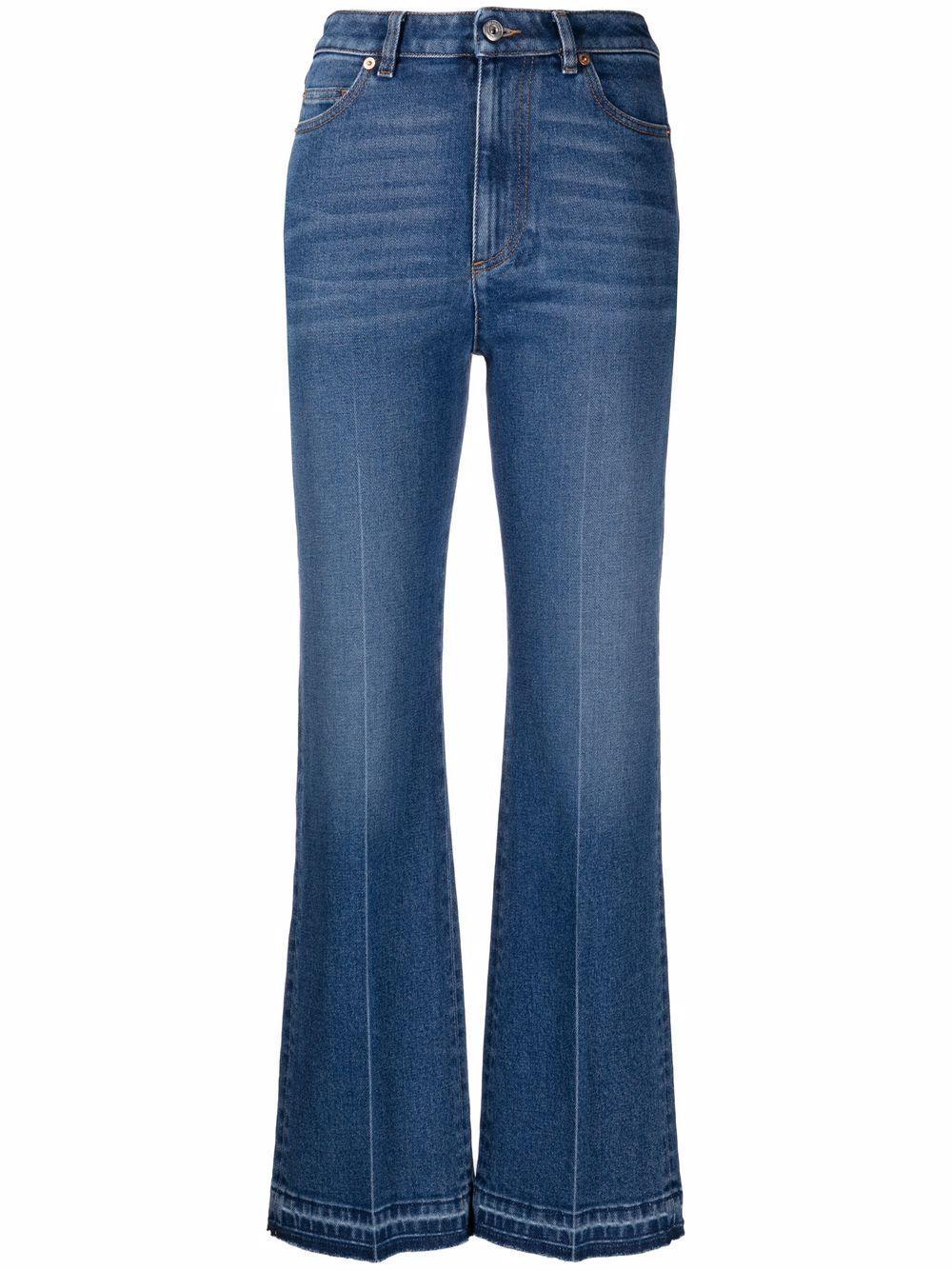 Flared Denim Pants Item # WB3DD12E7C6
