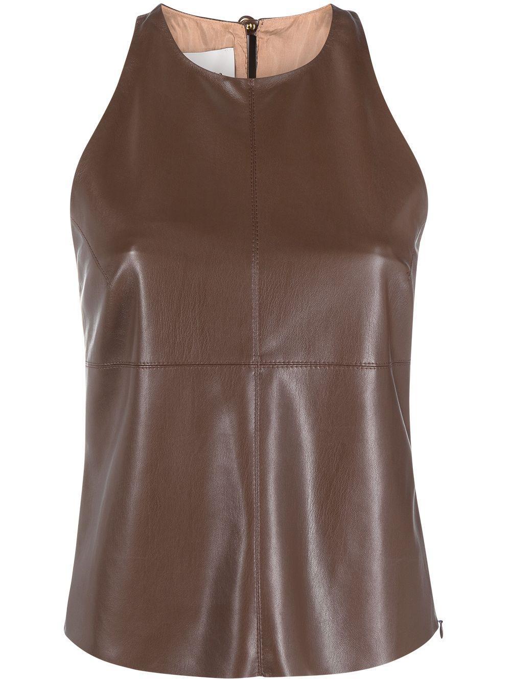 Teza Vegan Leather Top Item # NW2PFTP01678