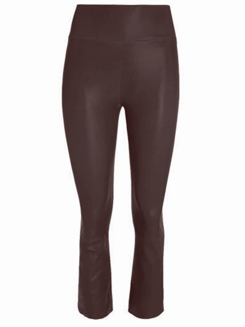 Crop Flare Leather Legging Item # FLR015L-C