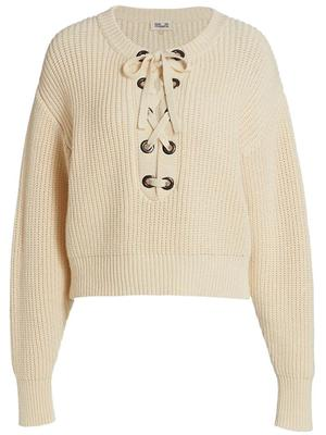 Cara Lace Up Sweater