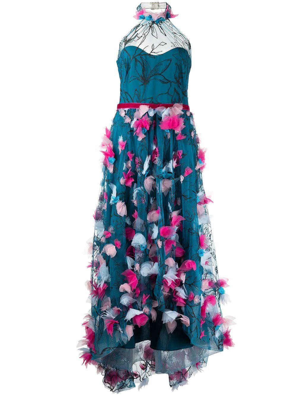 Floral Applique Gown Item # N48M2728