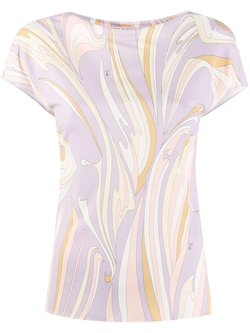 Printed Short Sleeve Top Item # 1RJN02-1R747