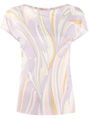 Printed Short Sleeve Top