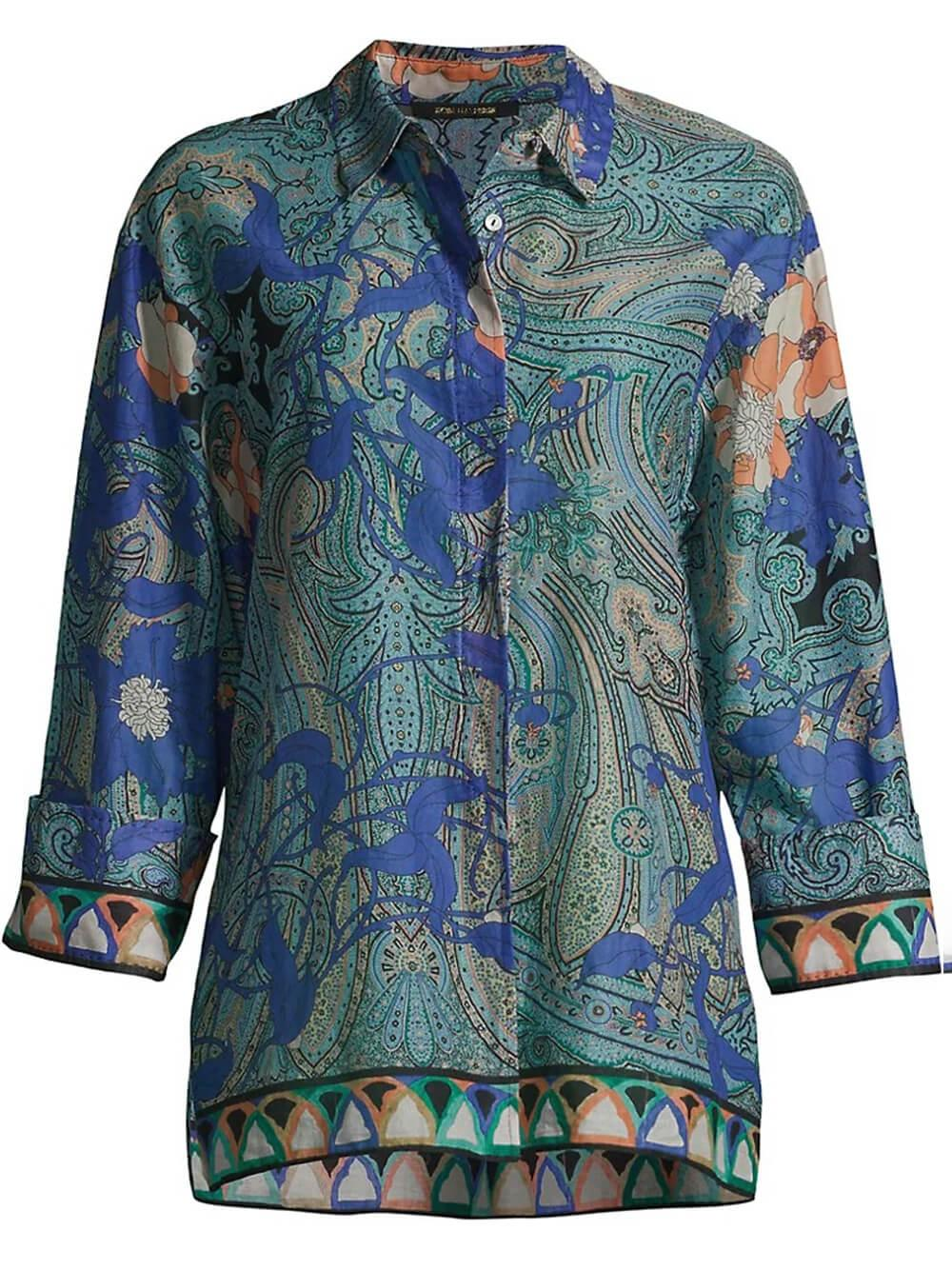 Blake Printed Shirt Item # KU1B15-1G