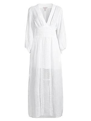 Smocked Waist Crochet Dress