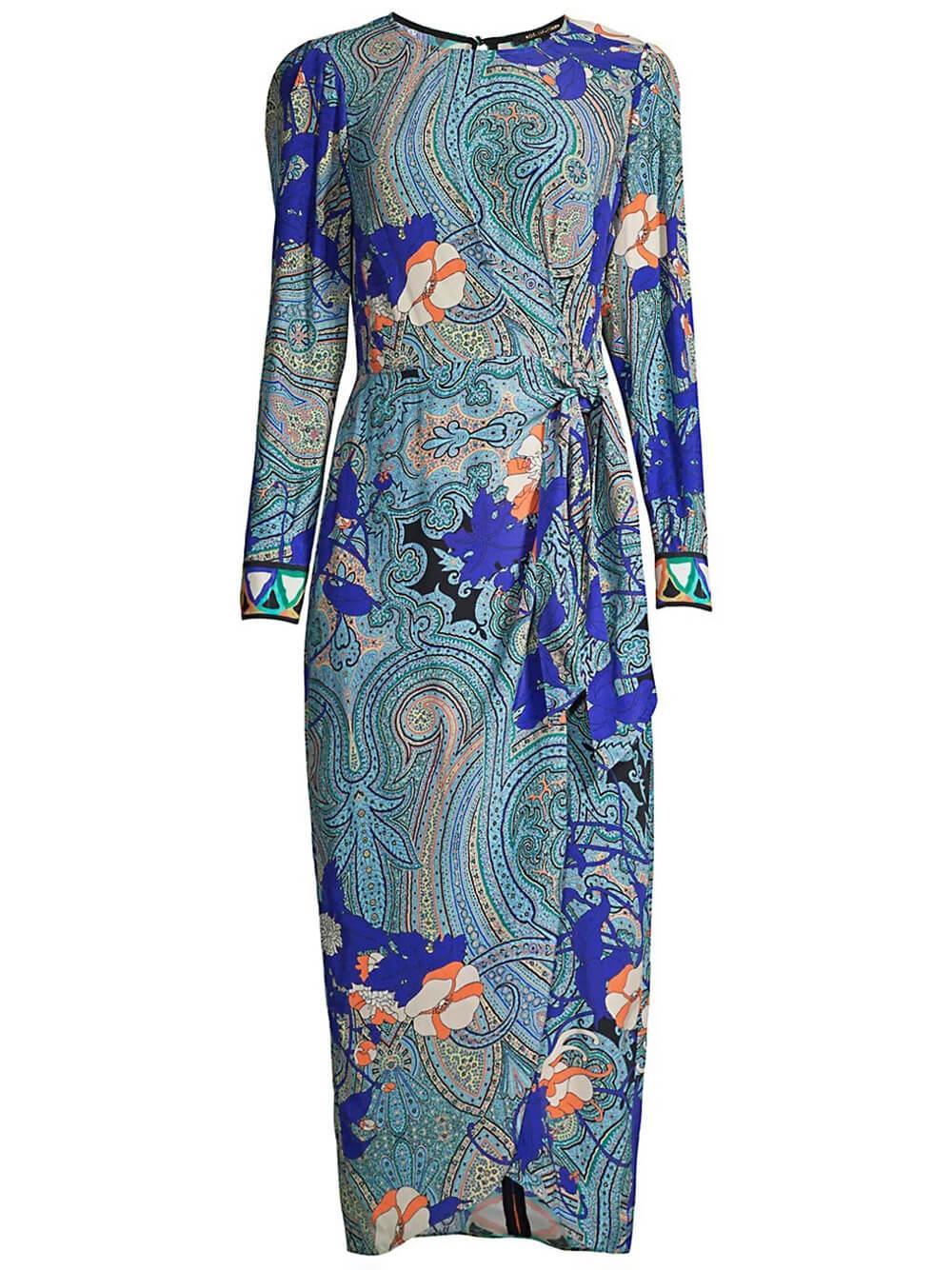 Faye Printed Maxi Dress Item # KU1D09-1G
