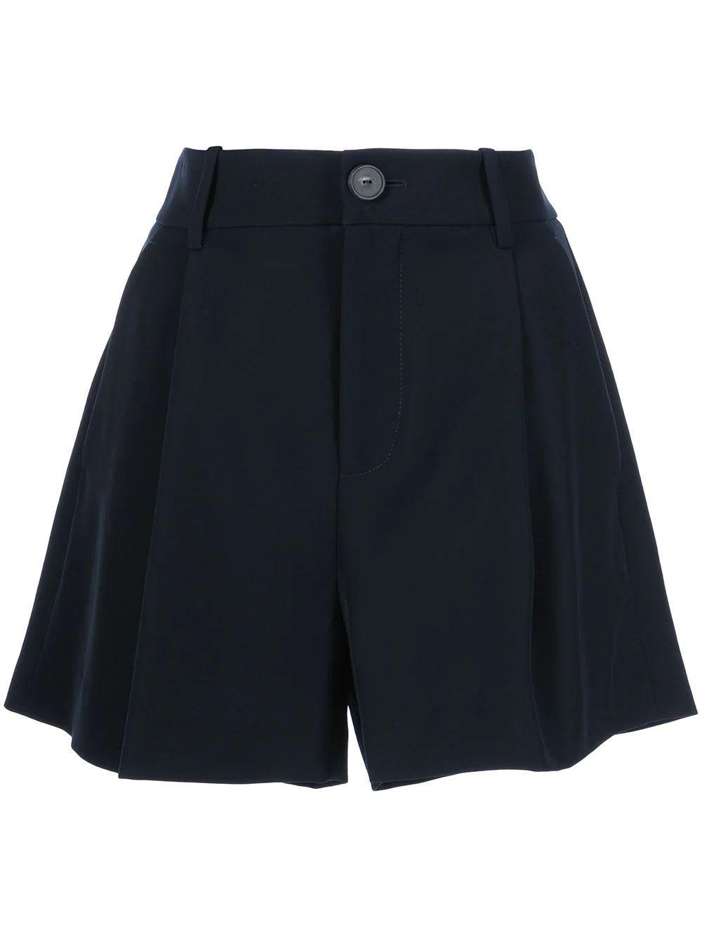 Pleat Front Shorts