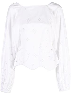 Broderie Anglaise Eyelet Blouse