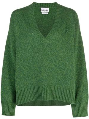 V-neck Wool Mix Sweater