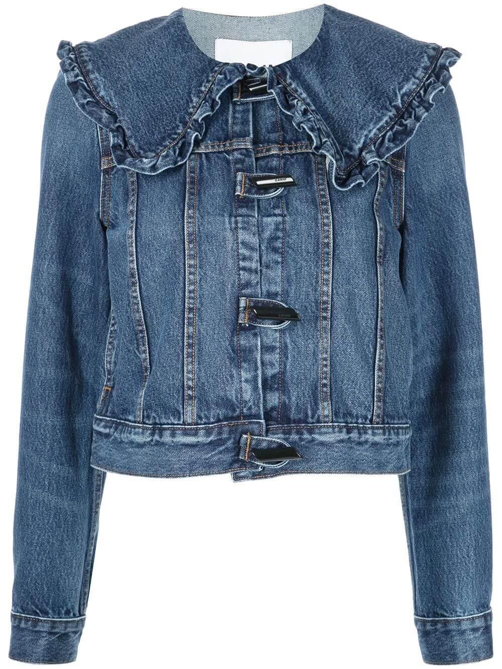 Oversized Collar Denim Jacket