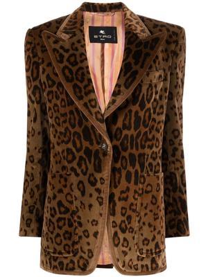 Giacca Santa Ana Leopard Blazer