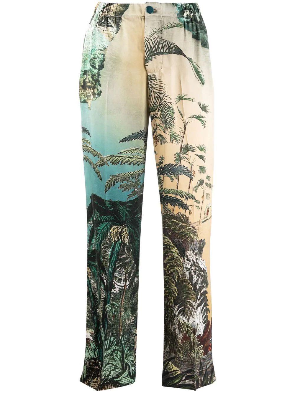 Jungle Print Pants Item # PA002086-TE00591