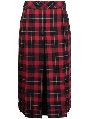 Tartan Plaid Midi Skirt