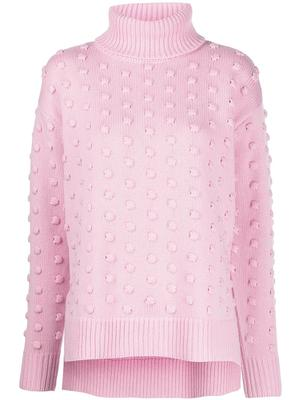 Dotted Turtleneck Sweater