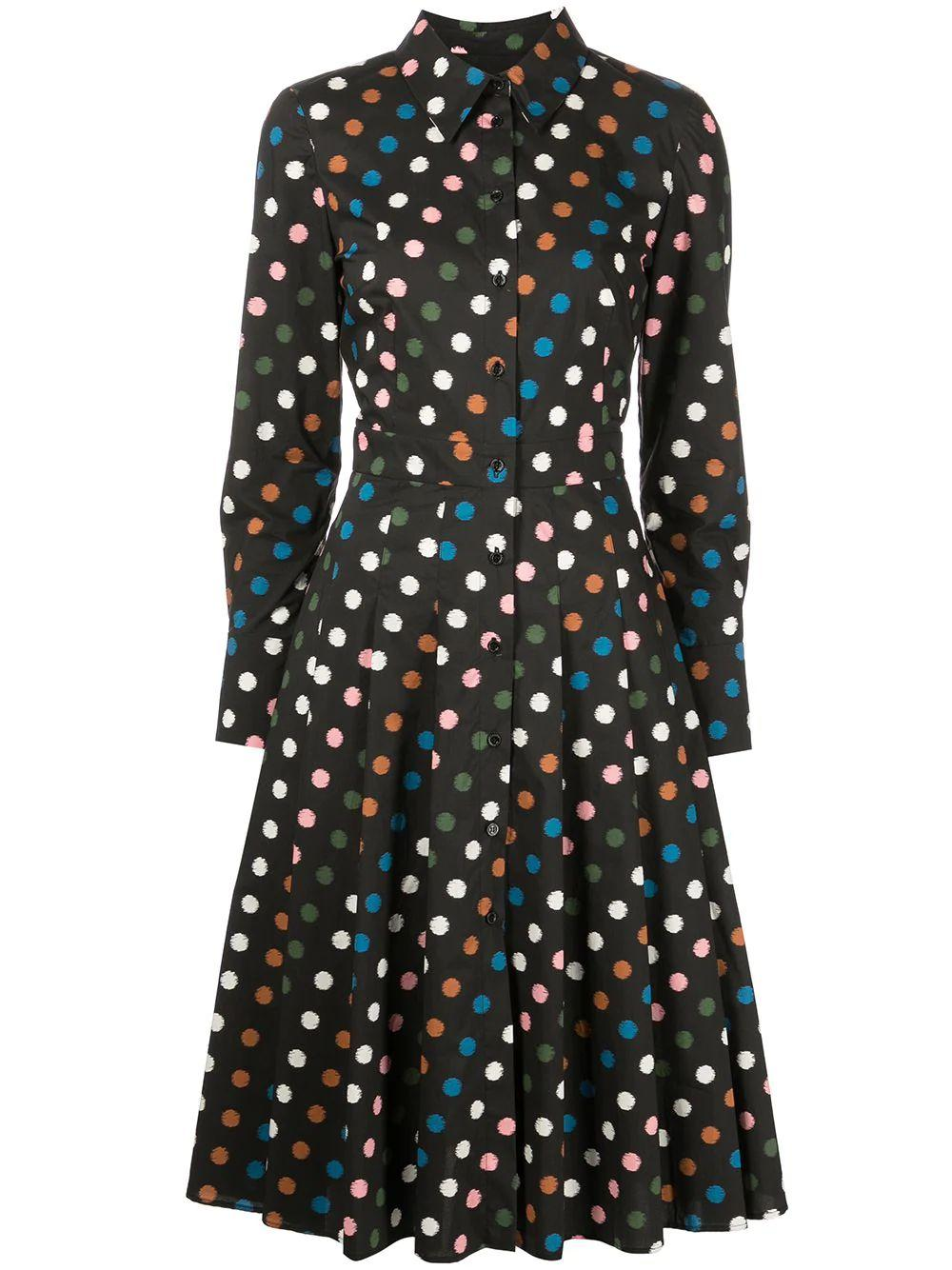 Multi Dot Shirt Dress Item # P2111N505MDT