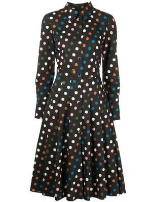 Multi Dot Shirt Dress