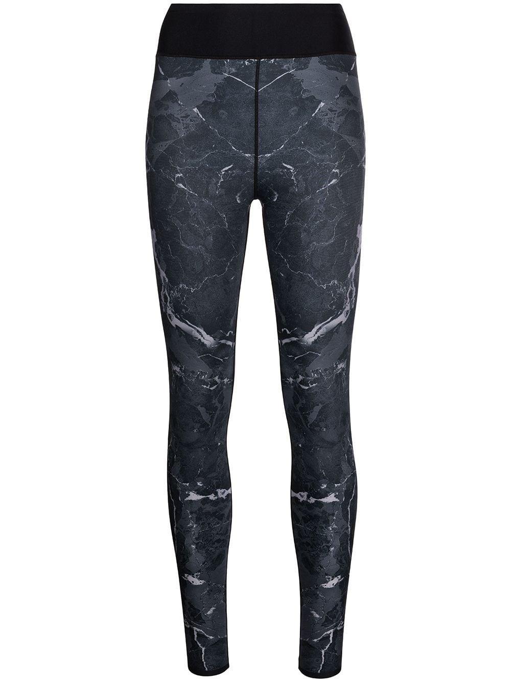 Granite Print Ankle Leggings Item # A321POR302SLKB-H