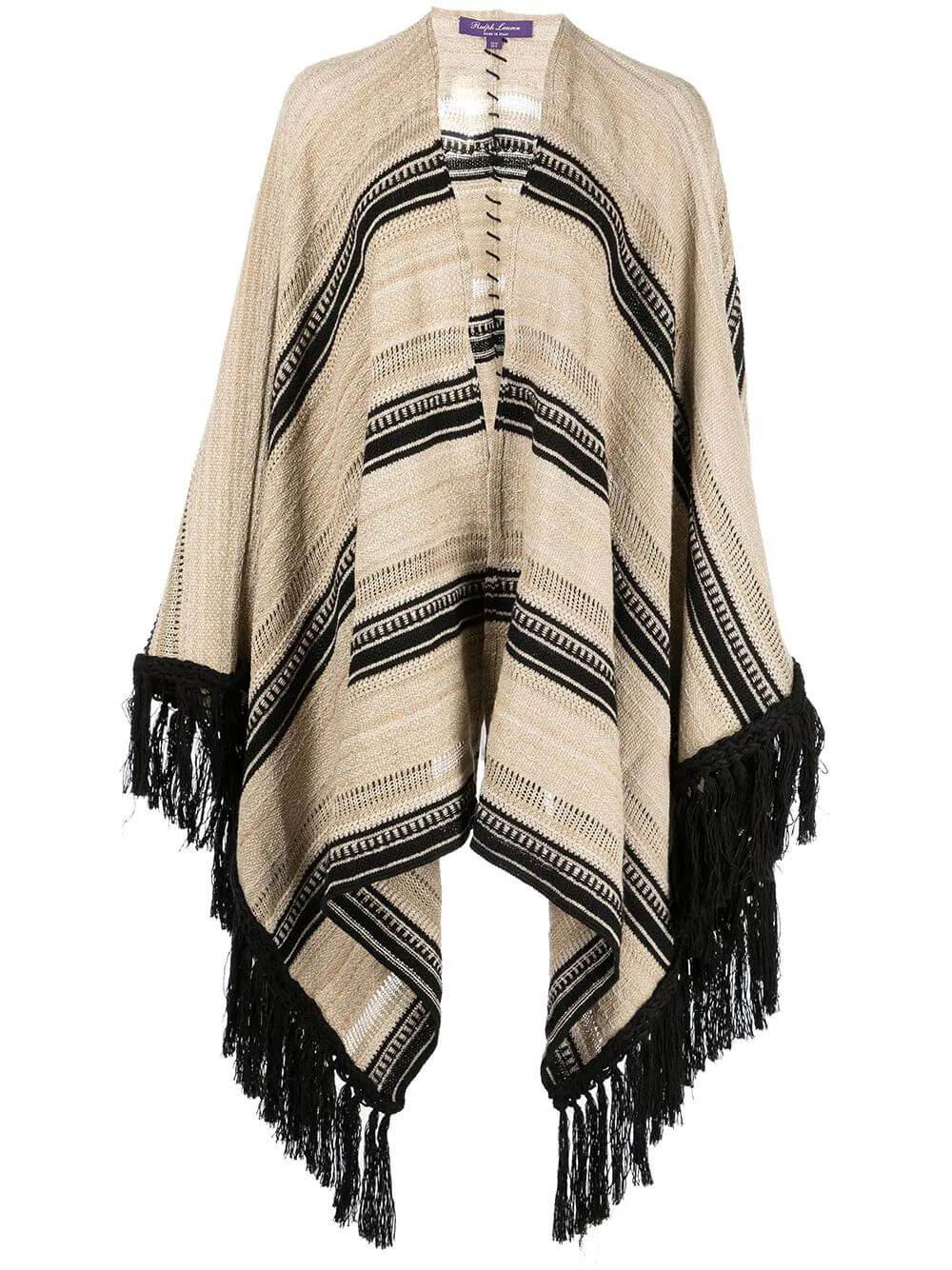 Ruana Sweater Blanket Striped Poncho Item # 290845671001