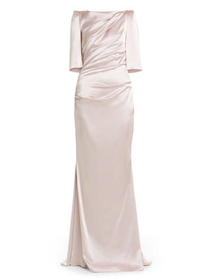 Draped Back Evening Gown