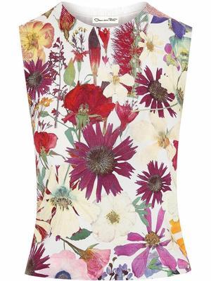 Pressed Flower Knit Tank