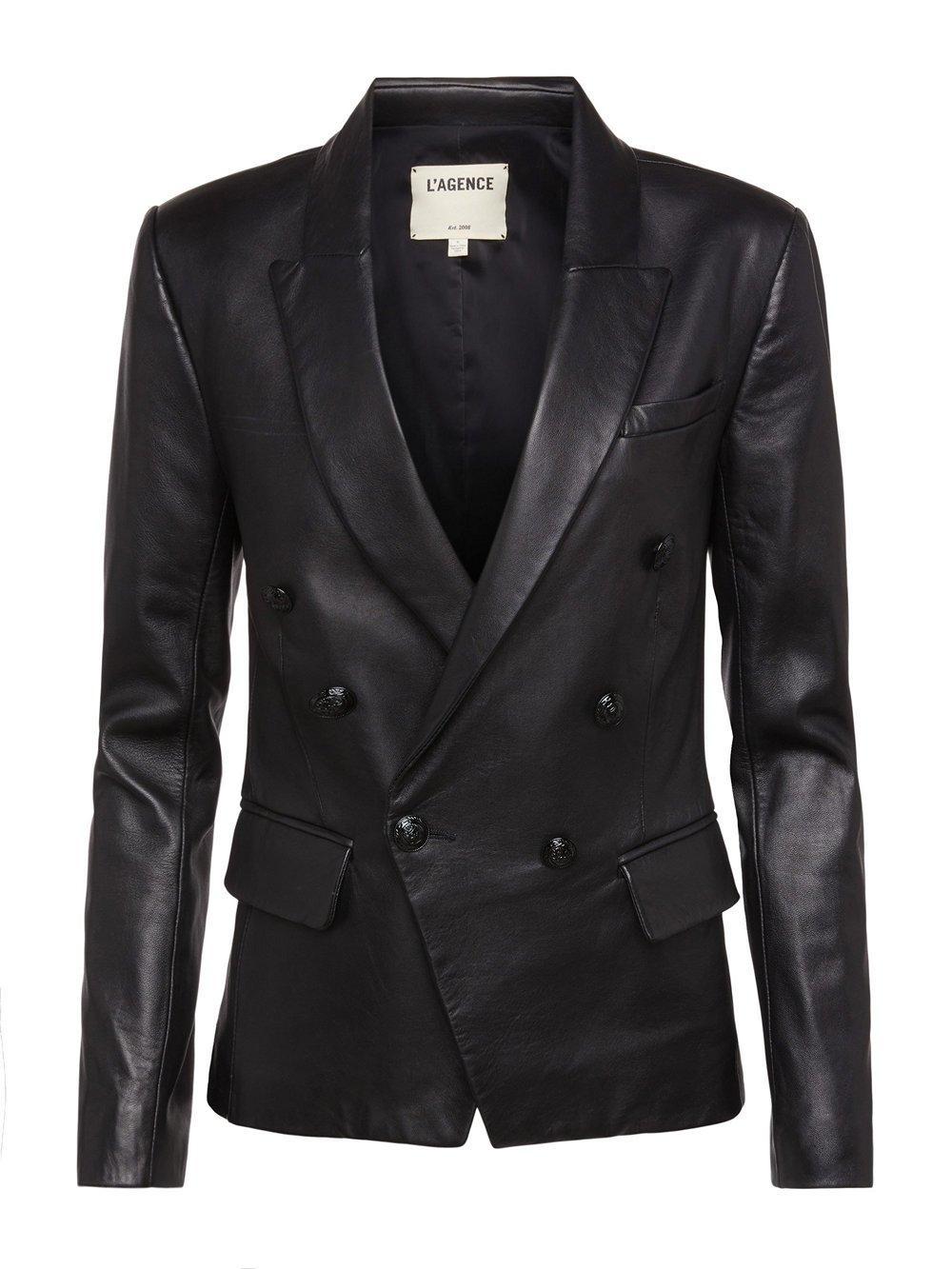 Kenzie Leather Blazer Item # 1432MLL