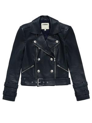 Billie Belted Leather Jacket