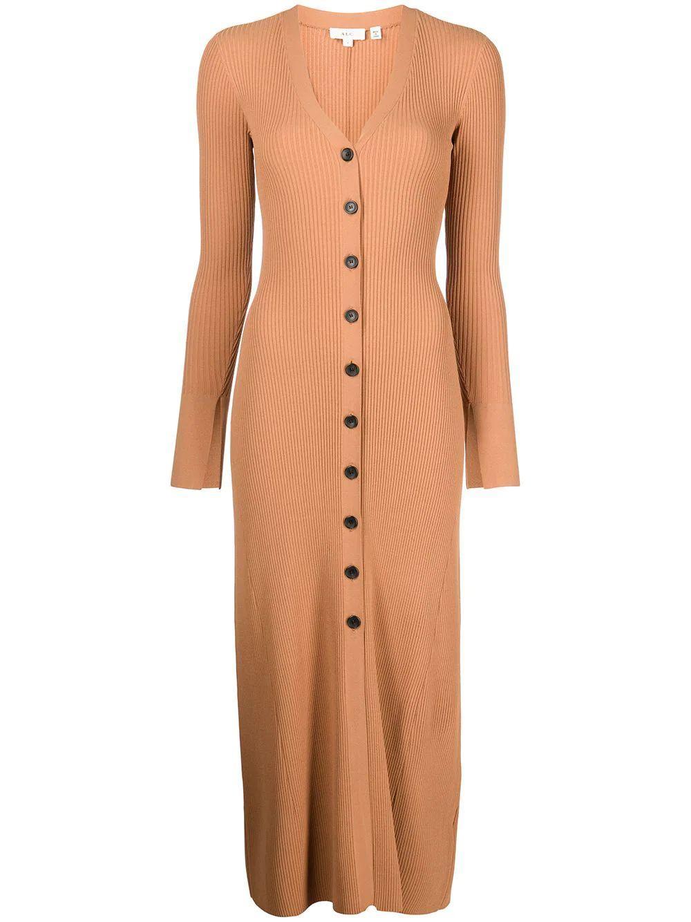 Tamara Button Front Knit Dress
